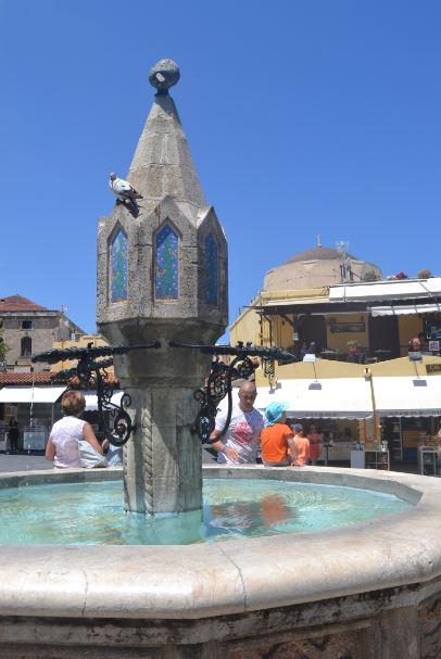 A medieval fountain
